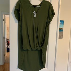 NWT Express hi-low surplice top